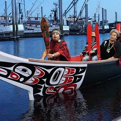 Alaska Canoe Experience.  Native canoe songs and regalia. Grab a paddle and sightsee with us.