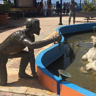 Sculptures in Plaza