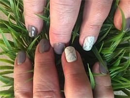 Luxury Gel Manicure with Marble nail art by Tani