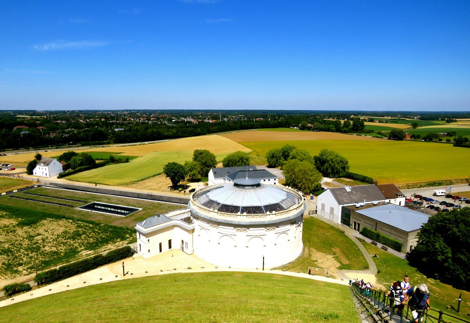 View from the hill overviewing the battle fields and the old panorama building.