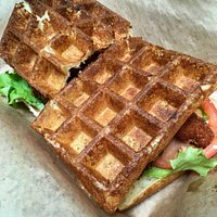 Amazing waffle sandwiches!! Definitely worth a visit.