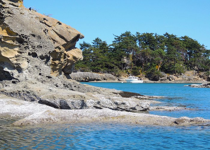 Sandstone formations at Sucia Island.