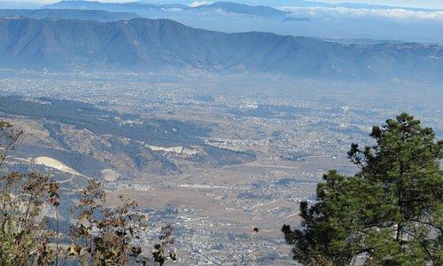 Uitzicht over Xela op 3000m