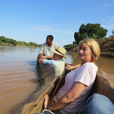 Boat trip on Omo river