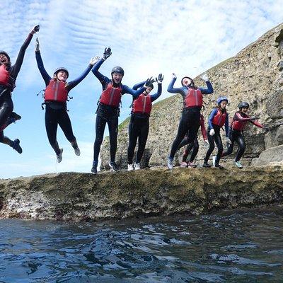 Coasteering in Dorset with Land & Wave