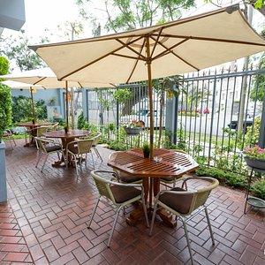 Terrace at the Runcu Hotel