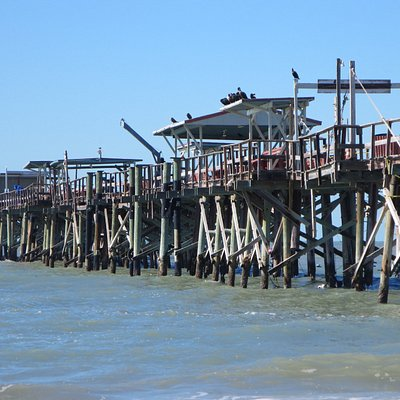 The Long Pier, not in the best of shape and costs $5 to walk out on