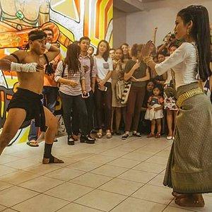 Apsara & Khmer warrior