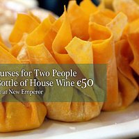 Two courses for two people only €50