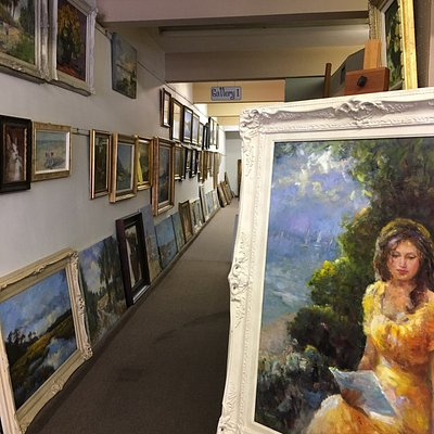 Bay Art and Frame has many paintings to see and purchase. Really good to stop and browse - great