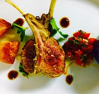 Grilled Lamb rack with Tomato Salsa