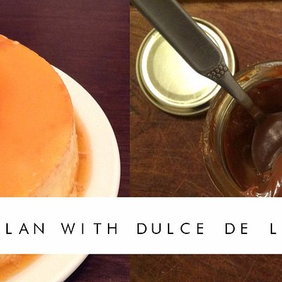 Flan with dulce de leche