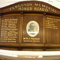 FHS School Captain Honor Board 1924 - 1951