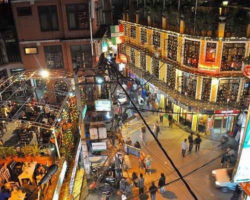 This photo of thamel kathmandu, nightlife