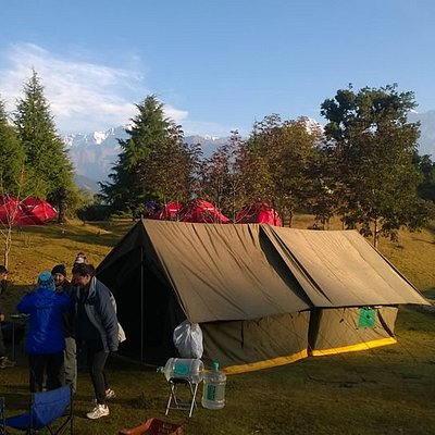 camping arrangements during our trekking trips.