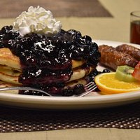 Loaded Blueberry Pancakes