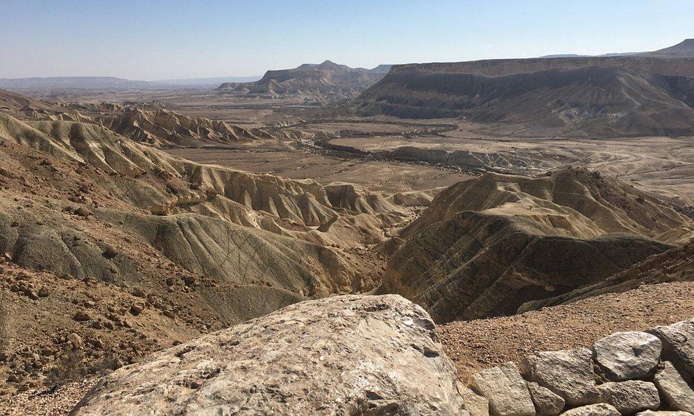 The desert landscape near the Ben Gurion Tomb