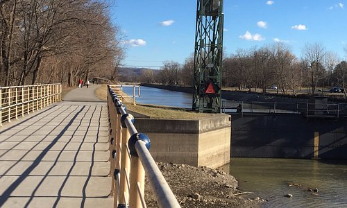 Erie Canal Trail - close-up of locks