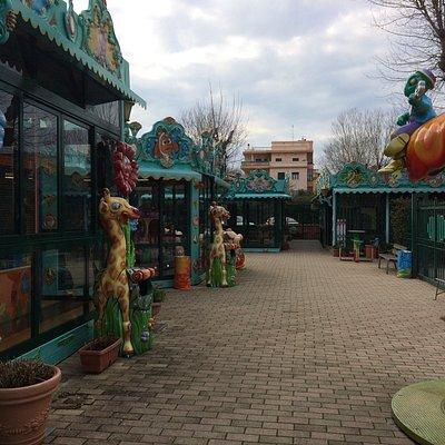 Parco giochi per bambini, sempre pulito e accogliente, fantastico!