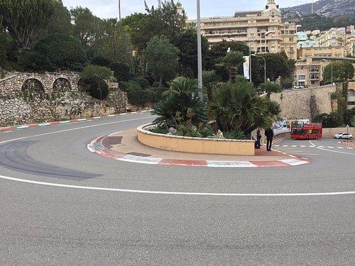 The famous Fairmont Hair Pin at the Monaco Grand Prix