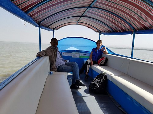 Boat ride on Lake Tana to see the monastery. With our guide Tilahun.