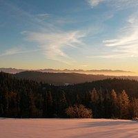 Tatra Mountains seen from Maciejowa Hill top