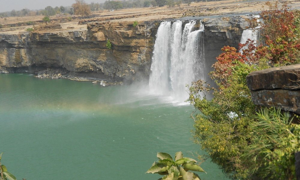 Chitrakote waterfall from a distance