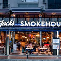 Jacks Smokehouse Puerto Banus by night