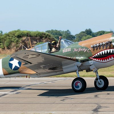 The American Airpower Museum P-40M on display at the museum during most of the Spring and Summer