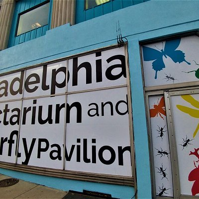 Philadelphia Insectarium and Butterfly Pavilion front entrance.