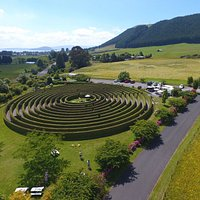 Amazing drone shot of the beautiful hedge maze located in Rotorua, this is the place to play!