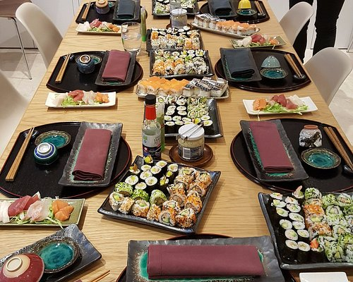 Our table laden with wonderful food