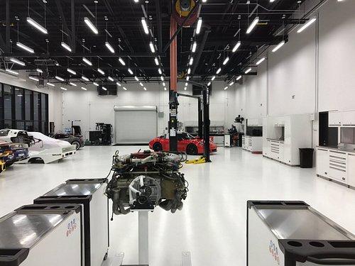 Porsche Motorsports Department at the Porsche Experience Center