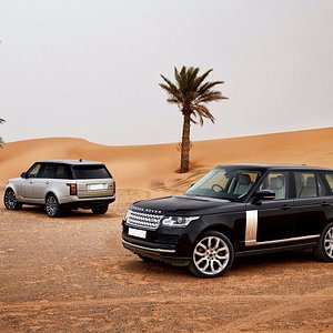 Our vehicles in desert