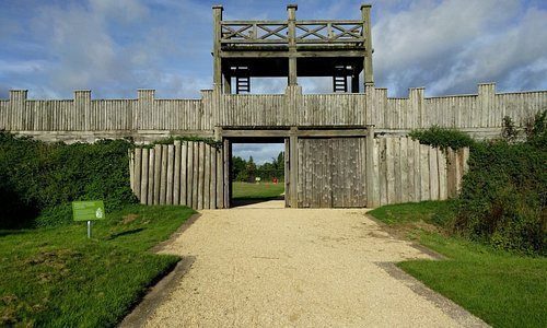 Entrance to Lunt Roman Fort
