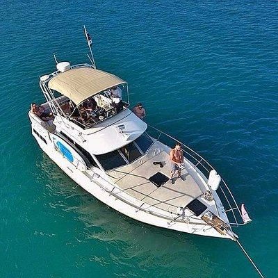 "Drone shot of Sea Ray ""Allora"""