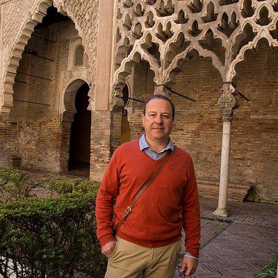 Carlos en el Alcázar de Sevilla