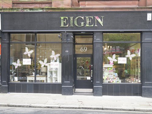 Eigen Home & Gifts, 69 High Street, Paisley PA1 2AY, opposite Paisley Museum
