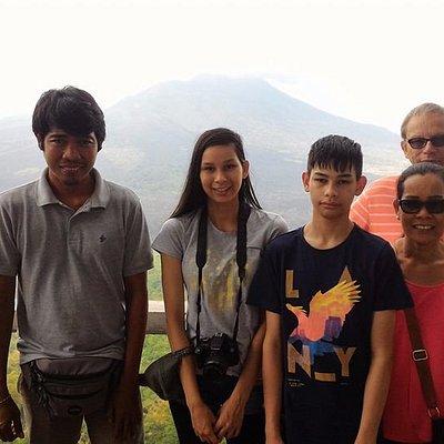 Martin Doman & family happy when visit kintamani.