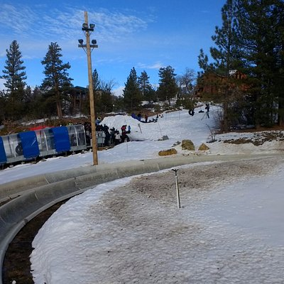 View from Lift of Tubing area