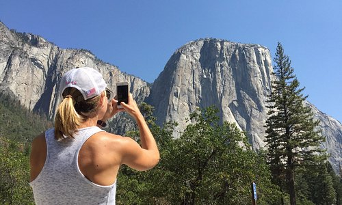 Julie taking picture of El Capitan