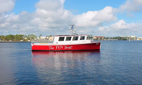 The Fun Boat just got so much More Fun !  And Red! We needed to new look for a new Season so