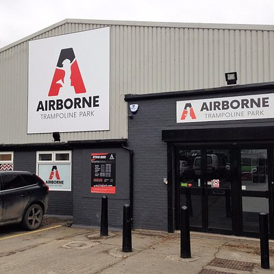 Entrance to Airborne Trampoline Park