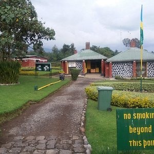 Volcanoes National Park Headquarters 3km east of Kinigi (picture taken after visiting the gorill