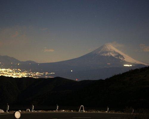 西伊豆スカイラインの夜景と富士