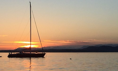 Sunsets and sailboats, Sidney Spit Marine Park Sidney, British Columbia, Canada