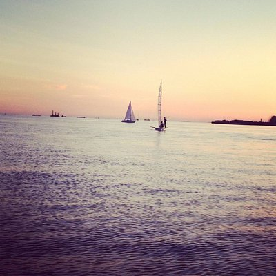Finland Gulf in summer, sunset