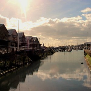 Beautiful setting at Dover Marina