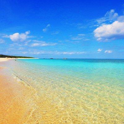 遠浅の美しいビーチです!