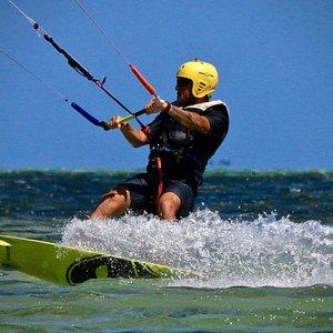 Cours de kite à l'Ilot Maître